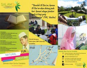 brosur smp sekolah boarding school islam bogor